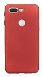 Xiaomi Mi 8 Lite Mat Kırmızı Silikon Kılıf