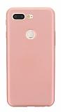 Xiaomi Mi 8 Lite Mat Rose Gold Silikon Kılıf