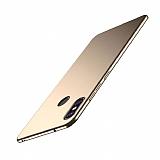 Xiaomi Mi 8 Tam Kenar Koruma Gold Rubber Kılıf