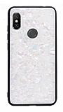 Xiaomi Mi A2 Lite Desenli Silikon Kenarlı Beyaz Rubber Kılıf