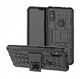 Xiaomi Mi A2 Lite Süper Koruma Standlı Siyah Kılıf