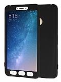 Xiaomi Mi Max 2 360 Derece Koruma Likit Siyah Silikon Kılıf