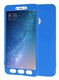 Xiaomi Mi Max 2 360 Derece Koruma Likit Mavi Silikon Kılıf