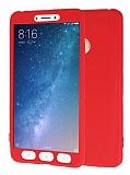 Xiaomi Mi Max 2 360 Derece Koruma Likit Kırmızı Silikon Kılıf