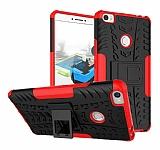 Xiaomi Mi Max 2 Süper Koruma Standlı Kırmızı Kılıf