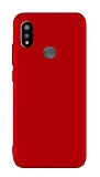 Xiaomi Mi Max 3 Kırmızı Mat Silikon Kılıf