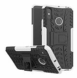 Xiaomi Mi Max 3 Süper Koruma Standlı Beyaz Kılıf