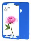 Xiaomi Mi Max 360 Derece Koruma Likit Mavi Silikon Kılıf