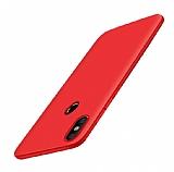 Xiaomi Mi Mix 2s Mat Kırmızı Silikon Kılıf
