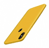 Xiaomi Mi Mix 2s Mat Gold Silikon Kılıf