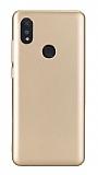 Xiaomi Mi Mix 3 Mat Gold Silikon Kılıf