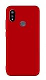 Xiaomi Mi Mix 3 Mat Kırmızı Silikon Kılıf