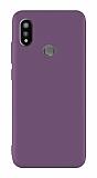 Xiaomi Mi Mix 3 Mat Mürdüm Silikon Kılıf