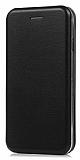 Xiaomi Mi Note 3 Curve Manyetik Kapaklı Siyah Deri Kılıf