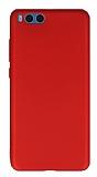 Xiaomi Mi Note 3 Mat Kırmızı Silikon Kılıf