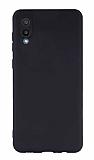 Samsung Galaxy A02 Kamera Korumalı Mat Siyah Silikon Kılıf
