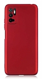 Xiaomi Poco M3 Pro Kamera Korumalı Mat Kırmızı Silikon Kılıf