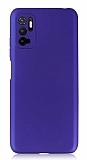 Xiaomi Poco M3 Pro Kamera Korumalı Mat Mavi Silikon Kılıf