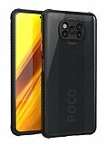 Xiaomi Poco X3 Ultra Koruma Kaff Siyah Kılıf