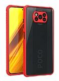 Xiaomi Poco X3 Ultra Koruma Kaff Kırmızı Kılıf
