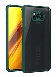 Xiaomi Poco X3 Ultra Koruma Kaff Koyu Yeşil Kılıf