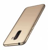 Xiaomi Pocophone F1 Mat Gold Silikon Kılıf