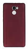 Xiaomi Redmi 4 Mat Bordo Silikon Kılıf
