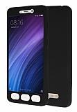 Xiaomi Redmi 4A 360 Derece Koruma Likit Siyah Silikon Kılıf