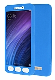 Xiaomi Redmi 4A 360 Derece Koruma Likit Mavi Silikon Kılıf