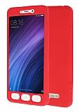 Xiaomi Redmi 4A 360 Derece Koruma Likit Kırmızı Silikon Kılıf