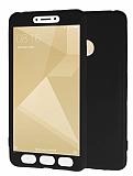 Xiaomi Redmi 4X 360 Derece Koruma Likit Siyah Silikon Kılıf