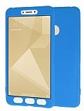 Xiaomi Redmi 4X 360 Derece Koruma Likit Mavi Silikon Kılıf