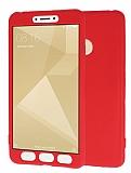 Xiaomi Redmi 4X 360 Derece Koruma Likit Kırmızı Silikon Kılıf