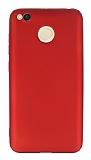 Xiaomi Redmi 4X Mat Kırmızı Silikon Kılıf