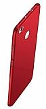 Xiaomi Redmi 4X Tam Kenar Koruma Kırmızı Rubber Kılıf