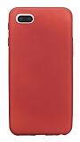 Xiaomi Redmi 6A Mat Kırmızı Silikon Kılıf