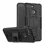 Xiaomi Redmi 6A Süper Koruma Standlı Siyah Kılıf