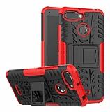 Xiaomi Redmi 6A Süper Koruma Standlı Kırmızı Kılıf