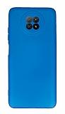 Xiaomi Redmi Note 9 5G Kamera Korumalı Mavi Silikon Kılıf