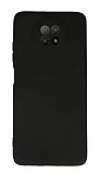 Xiaomi Redmi Note 9 5G Kamera Korumalı Siyah Silikon Kılıf