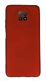 Xiaomi Redmi Note 9 5G Kamera Korumalı Kırmızı Silikon Kılıf