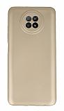 Xiaomi Redmi Note 9 5G Kamera Korumalı Gold Silikon Kılıf