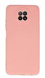 Xiaomi Redmi Note 9 5G Kamera Korumalı Pembe Silikon Kılıf