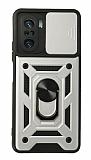 Eiroo Magnet Lens Xiaomi Redmi K40 Pro Ultra Koruma Silver Kılıf