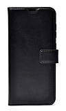 Xiaomi Redmi Note 10 Cüzdanlı Kapaklı Siyah Deri Kılıf