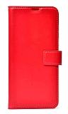 Xiaomi Redmi Note 10 Cüzdanlı Kapaklı Kırmızı Deri Kılıf