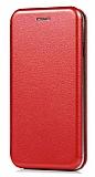 Xiaomi Redmi Note 4 / Redmi Note 4X Curve Manyetik Kapaklı Kırmızı Deri Kılıf