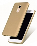 Xiaomi Redmi Note 4 / Redmi Note 4X Mat Gold Silikon Kılıf