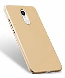 Xiaomi Redmi Note 4 / Redmi Note 4X Tam Kenar Koruma Gold Rubber Kılıf