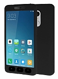 Xiaomi Redmi Note 4X 360 Derece Koruma Likit Siyah Silikon Kılıf
